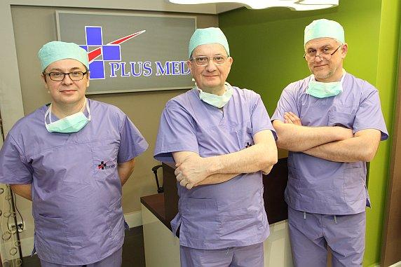 Na zdjęciu od lewej: dr Paweł Bodzenta, profesor Rene Milleret i dr Roman Gołąbek.